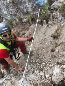 Felsräumen, Felsräumarbeiten, Klettersteig, Rodung, roden