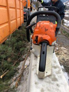 Holzschlägerung, Holzfällen, Holzbringung, Tirol, Grins, Landeck, Kranfällung, Kran, LKW