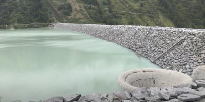 Um die Turbinen des Gepatsch-Stausees im Kaunertal nicht zu beschädigen, müssen jährlich Holzbringungen aus dem See gemacht werden. SF Forst Konzept wurde dafür beauftrag